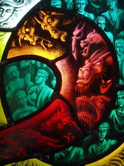 Demonic entities (Aidan McRae Thomson) Tags: panel contemporary stainedglass exhibition scraffito aidanmcraethomson