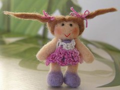 Scintilla (MUFFA Miniatures) Tags: cute miniature gnome funny doll purple crochet pixie fairy needlefelting muffa