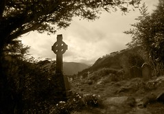 """I never felt a calm so deep"" (John of Dublin) Tags: ireland mountains sepia ancient cross searchthebest graveyards graves glendalough celtic tombstones wicklow soe artisticexpression flickrsbest amazingphoto beautifulcapture anawesomeshot diamondclassphotographer flickrdiamond empyreanland justhitmewithyourbestshot"