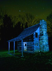 (Spencer Black) Tags: nightphotography lightpainting cabin parkway blueridgeparkway