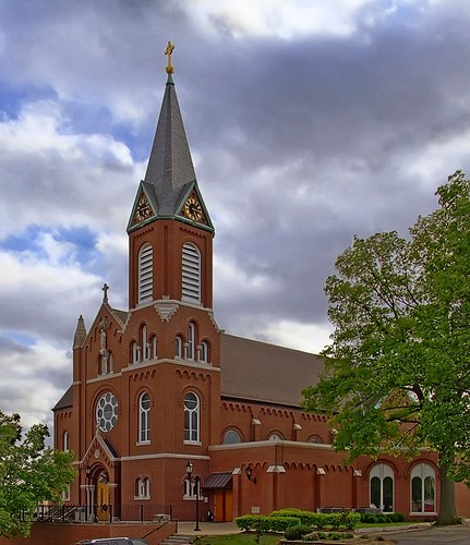 Sacred Heart Roman Catholic Church, in Valley Park, Missouri, USA - exterior