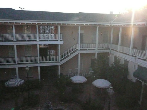 malaga inn courtyard sunset
