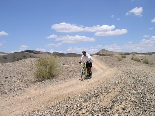 Randy on Footbike Trail