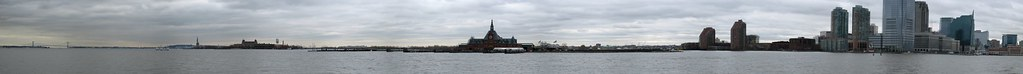 Liberty and Ellis Islands panorama