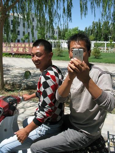 Keen locals in Guazhou, Gansu Province, China