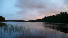 sitting on the dock (solja) Tags: summer lake suomi finland rainbow solstice juhannus kes kuru mkkeily poutapilvi