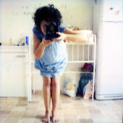 day 88 (kygp) Tags: blue girls people selfportrait film me kitchen analog reflections polaroid sx70 photography mirror dress russia moscow 365 expired sx 365days bolshakovshome 365ru