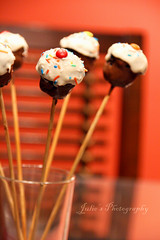Do these look like... (Julie™) Tags: recipe colorful julie mini cupcake sprinkles stick bakerella