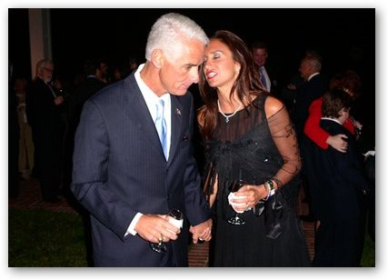 Carole Rome with Charlie Crist