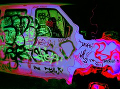 death van enters acid zone (ziggywiggy1(SHELLIE B.)) Tags: nyc color art photomanipulation catchycolors purple manhattan violet sensational experimentation psychedelic picnik streetscenes amazingcolors damncool smorgasbord hardcorestreetphotography artisticexpression aworkofart freephotos altereduniverse itsmagical colorphotoaward magicofcolor ithinkthisisart colourlicious colourartaward betterthangood trashbit thepsychedeliccolourgroup specialeffectsaward yourpreferredpicture digitaleloquence totalphotoshop screamofthephotographer photographersgonewild showmemagic colorfullaward thepsychedelicphotogroup colorsinourworld gununenlyisithebestoftheday coloursplosions