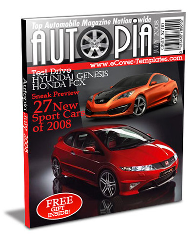 ezine cover action template- automobile