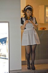 waitress (djlah) Tags: street people woman girl japan tokyo ginza shinjuku dress feminine shibuya skirt apron sissy hostess waitress maid maids akasaka pinafore pinny teenage servant frilly domesticated frills kittel mucama schort schortje wraparoundapron bibbedapron sissymaidsapron