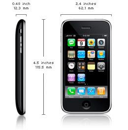 Dimensiuni iPhone 3G