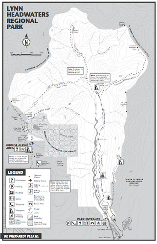 Lynn Headwaters Map