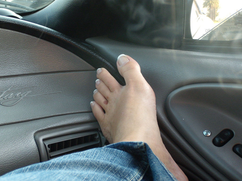 Sexy french tip feet
