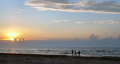 Port Aransas beach at sunrise
