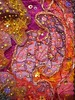 Detail Terre de Feu 4 (Karen Cattoire) Tags: original abstract art texture collage colorful handmade originalart creation fabric fiberart beading fibers textileart tissu abstrait textiledart karencattoire fibretextile arttexilte