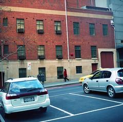 Funky Town (Matt_Lew) Tags: woman film zeiss town kodak walk kodakportra400vc australia melbourne funky victoria hasselblad carl portra f28 planar 80mm 500cm hasselblad500cm lonsdalest 400vc carlzeissplanar80mmf28