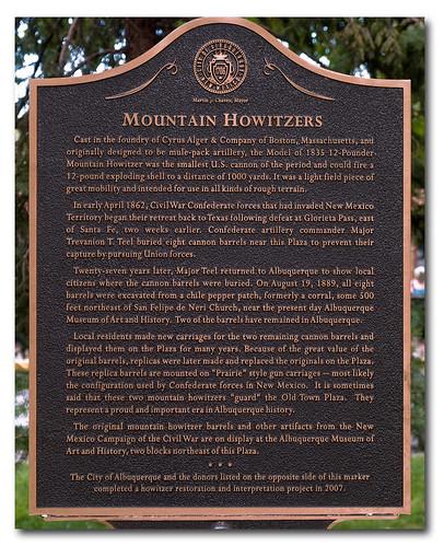 Mountain Howitzer Plaque