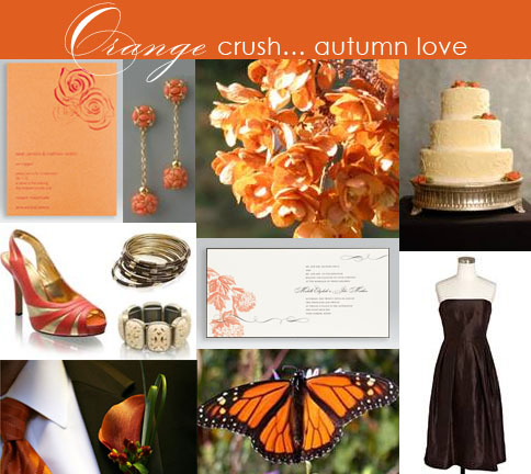Orange Wedding Board