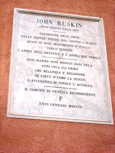 Ruskin plaque