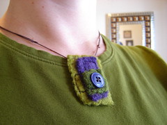 Deco Nature Felt Necklace (mystringtheory) Tags: necklace handmade crochet jewelry felt woolyarn feltjewelry feltnecklace mystringtheory etsyfastteam fibernecklace etsyhookersteam