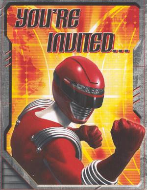 Found - Power Ranger Invite - Front