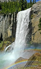 Vernal Falls Yosemite Panorama (Darvin Atkeson) Tags: california park panorama usa mist america river us rainbow nevada merced hike falls sierra trail national yosemite dome half vernal darvin   atkeson californiaphotography  darv californiaphotographer   liquidmoonlightcom liquidmoonlight