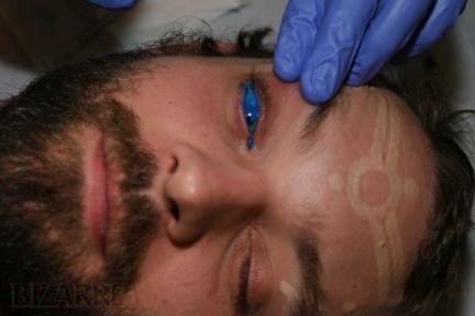 mundo tatuaje. El primer tatuaje de ojos en el mundo.