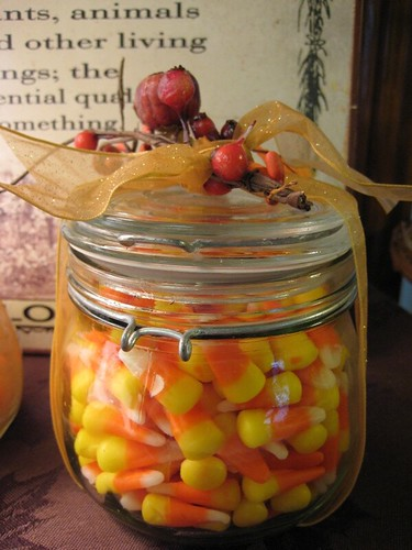 Jar of candy corn
