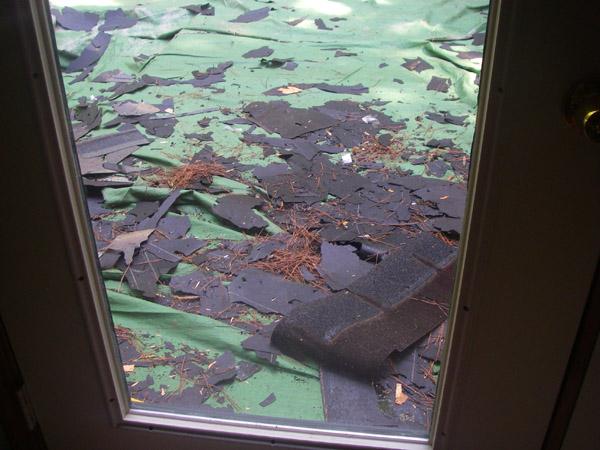 roofing debris