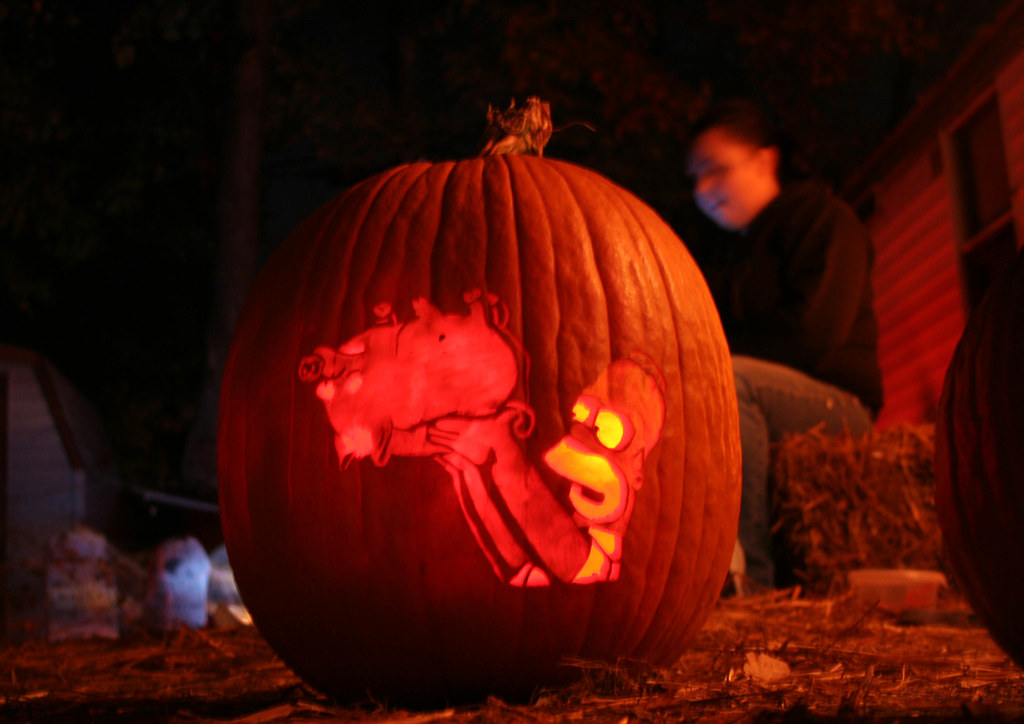 The worlds best photos of halloween and kang flickr hive mind halloween 2006 homer simpsons spider pig the simpsons movie custom pattern ballyhooligan pronofoot35fo Image collections