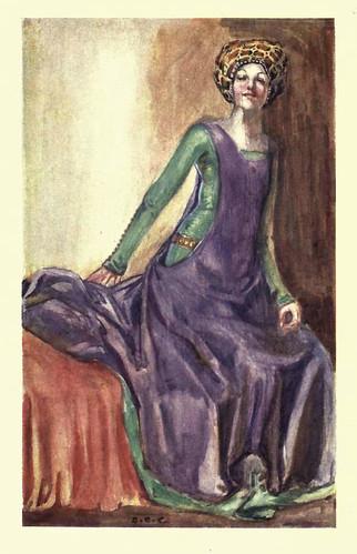 04- Vestimenta mujer en la epoca de Ricardo II (1377.1399)