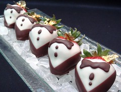 Strawberry tuxedo (Peter Arthold) Tags: black art dessert strawberry style valentines chocolatedipped decor valentinesday rocksugar valentinestreats strawberrytuxedo