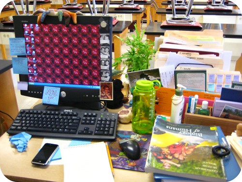 my mess of a desk...today was crazy