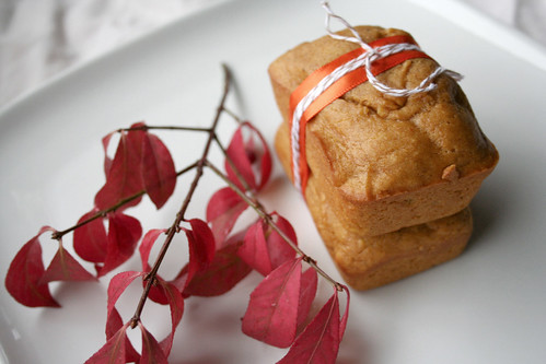 miniature pumpkin breads.