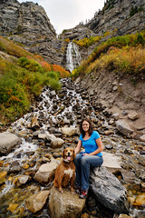 Kerby and Manray at Bridal Veil Falls