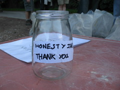 Stonegate walk - honesty jar