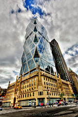 Hearst Tower (Mr Yankee) Tags: street new york nyc newyorkcity travel houses usa house newyork building beautiful architecture canon town construction downtown district united landmark tourist explore metropolis manhatten soe metropolitan hdr dum bygninger hearsttower 5photosaday famousbuilding hdrsingleraw aplusphoto