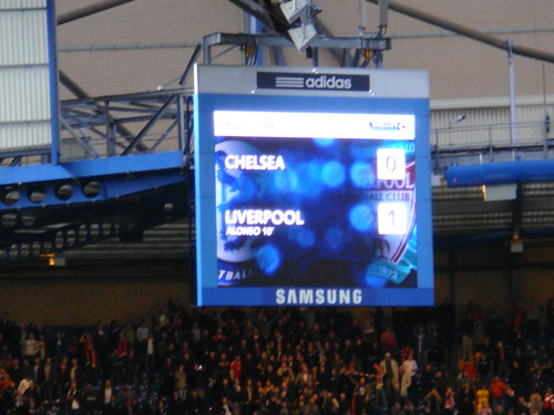 Marcador final. Histórico 0-1 a favor del Liverpool.