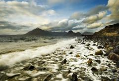Cuillin Hills from Elgol; Isle of Skye (Corica) Tags: uk longexposure greatbritain sea skye landscape scotland rocks isleofskye britain loch cuillins elgol sigma1020mm corica lochscavaig canon400d thebestwaterscapes