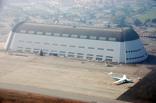 Hangar One from Zeppelin NT