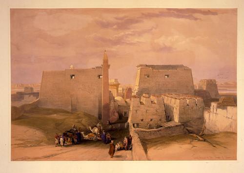 009- Gran entrada al templo de Luxor - David Roberts- 1846-1849
