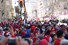 the sea of red (cdascher) Tags: philadelphia parade phillies worldseries