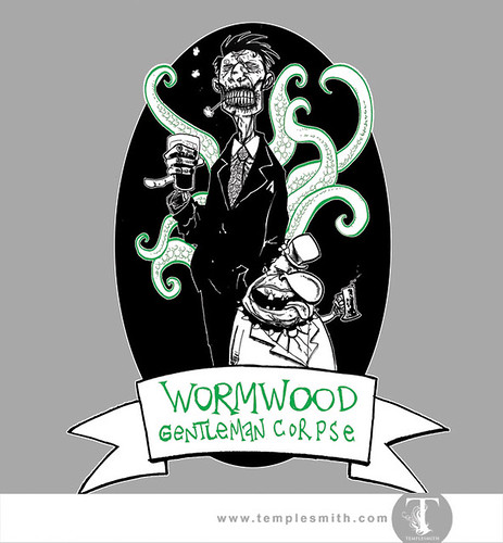 Wormwood Pint Glasses: Wormwood Gentleman Corpse