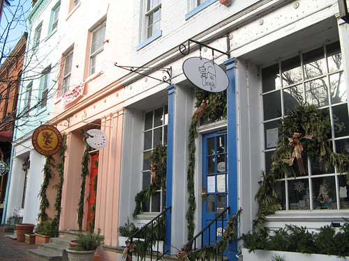 Shopfronts in Old Town Alexandria