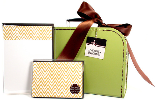 Mustard ZigZags Suitcase Set