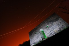 Pillbox light painted at night (in Kewstoke nr Weston-super-Mare) (AndWhyNot) Tags: light red sky green night plane point concrete star sand nikon long exposure paint box military trails sigma andrew trail installation lichen 1020 gel pill defence pillbox whyte wartime andwhynot 9669 d80 kewstoke