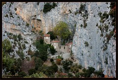 Galamus Hermitage (Ursula in Aus (Away)) Tags: france rock buildings ancient christian gorge hermitage languedoc pyrnesorientales pyrennees galamus sentiercathare languedocroussilon cathartrail catharepath galamusgorges