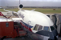 Philippine Airlines Douglas DC 10 at the terminal at Sydney International Airport, Australia.